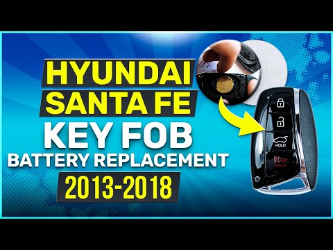 Hyundai Santa Fe Key Fob Battery Replacement (2013 - 2018)