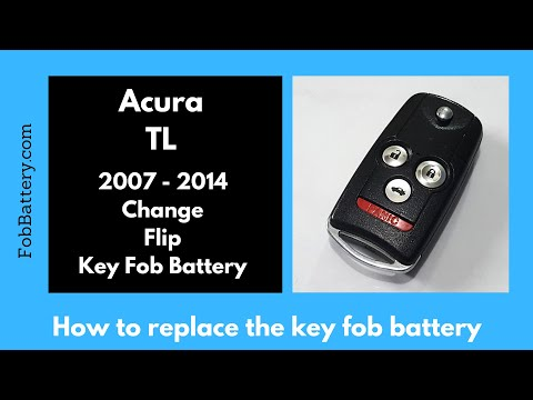 Acura TL Key Fob Battery Replacement (2007 - 2014)