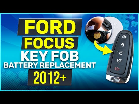 Ford Focus Remote Key Fob Battery Replacement 2012 - 2019