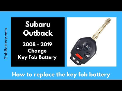 Subaru Outback Key Fob Battery Replacement (2008 - 2019)