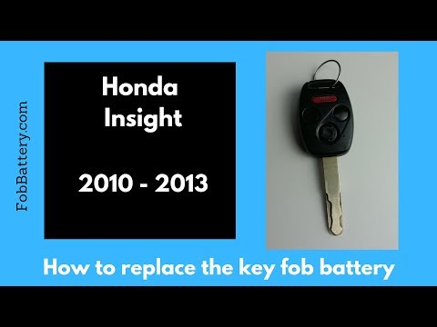 2010 - 2013 Honda Insight Key Battery Replacement Guide