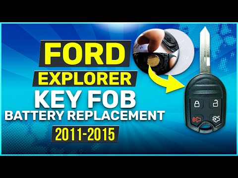 2011 - 2015 Ford Explorer Rounded Key Fob Battery Replacement