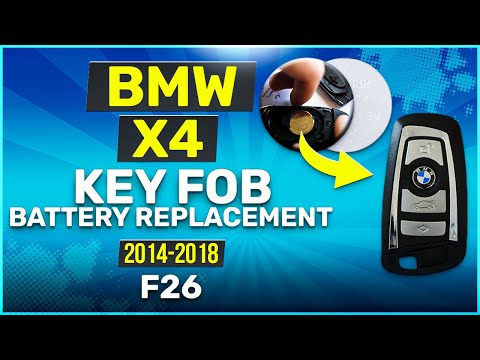 2014 - 2018 BMW X4 Key Battery Replacement F26 Fob Remote