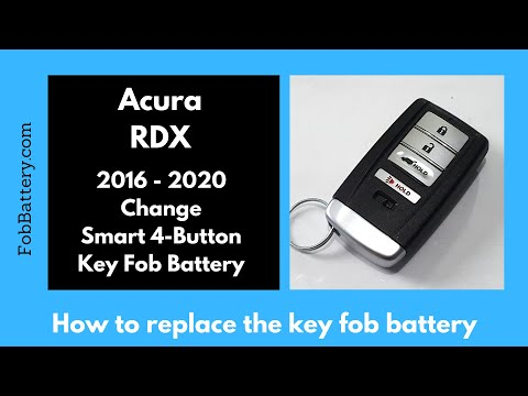Acura RDX Key Fob Battery Replacement (2016 - 2020)