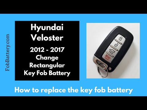 Hyundai Veloster Key Fob Battery Replacement (2012 - 2017)