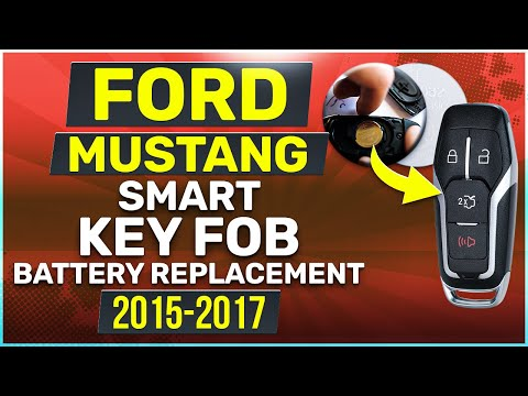 Ford Mustang Smart Key Fob Battery Replacement (2015 - 2017)