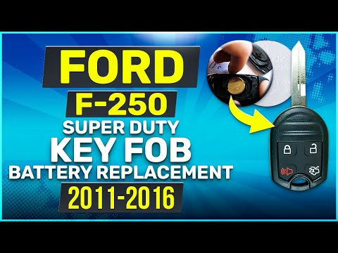 Ford F-250 Super Duty Remote Key Fob Battery Replacement 2011 2012 2013 2014 2015 2016