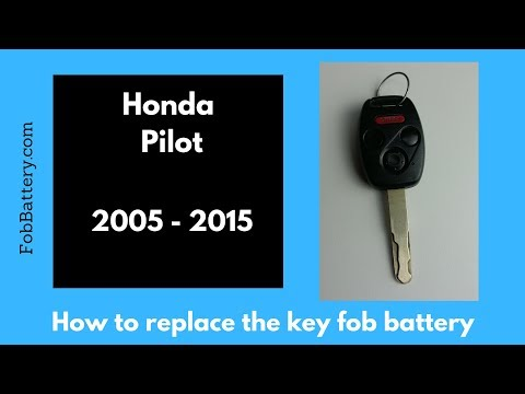 2005 - 2015 Honda Pilot Key Battery Replacement Guide