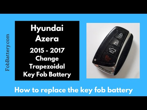 Hyundai Azera Key Fob Battery Replacement (2015 - 2017)