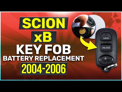 2004, 2005, 2006 Scion xB Key Fob Battery Replacement
