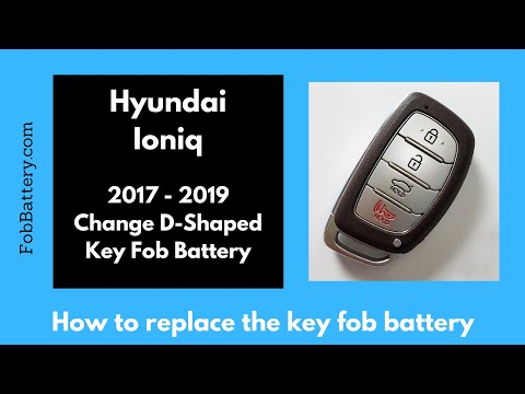 Hyundai Ioniq Key Fob Battery Replacement (2017 - 2020)