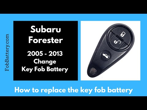 Subaru Forester Key Fob Battery Replacement (2005 - 2013)