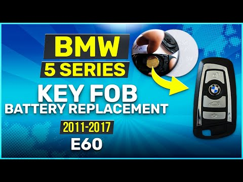 2011 - 2017 BMW 5 Series Key Battery Replacement E60 Fob Remote