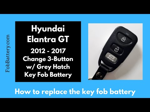 Hyundai Elantra GT Key Fob Battery Replacement (2012 - 2017)