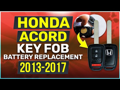 Honda Accord Key Battery Replacement Guide 2013 - 2017