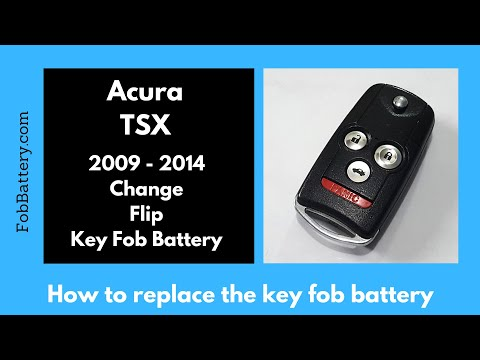 Acura TSX Key Fob Battery Replacement (2009 - 2014)