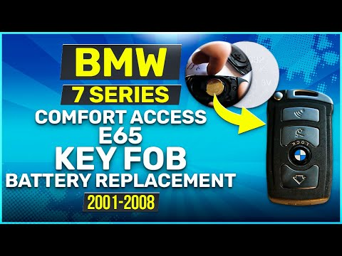 2001 - 2008 BMW 7 Series Comfort Access Key Battery Replacement E65 Fob Remote