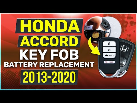 Honda Accord Key Battery Replacement Guide 2013 - 2020