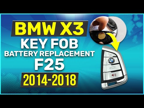 2014 - 2018 BMW X3 Key Battery Replacement F25 Fob Remote