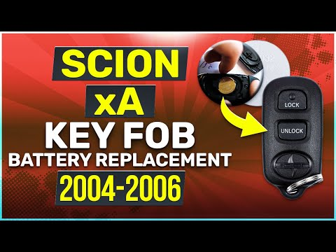 2004, 2005, 2006 Scion xA Key Fob Battery Replacement