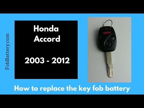 2003 - 2012 Honda Accord Key Battery Replacement Guide