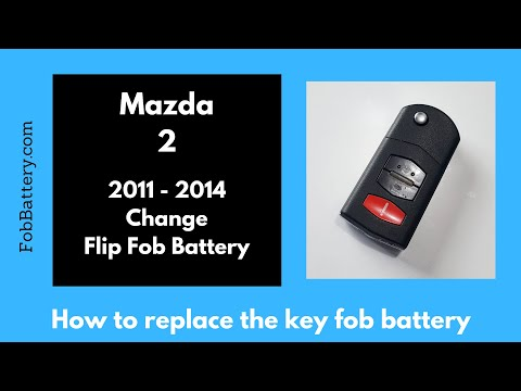 Mazda 2 Flip Key Fob Battery Replacement (2011 - 2014)