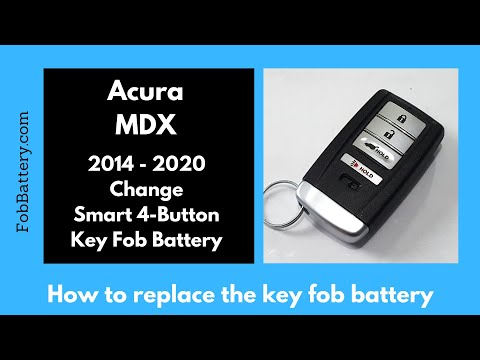 Acura MDX Key Fob Battery Replacement (2014 - 2020)