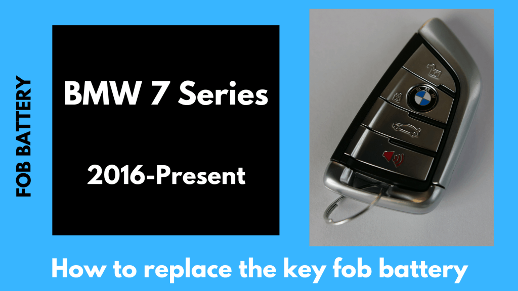how to replace the 7 series g11 key fob battery