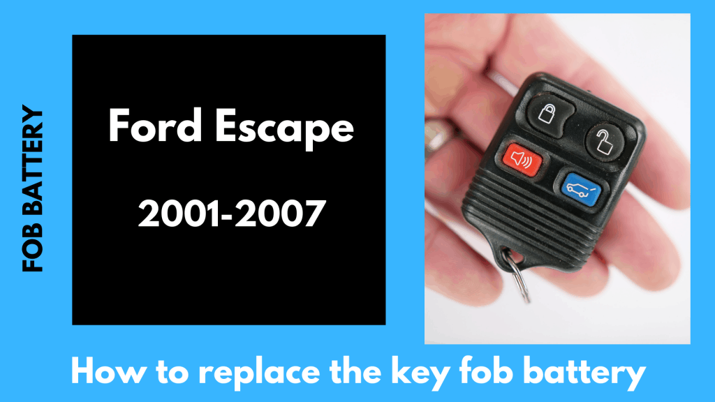 Change Fob Battery Ford Escape Square Unlock Remote