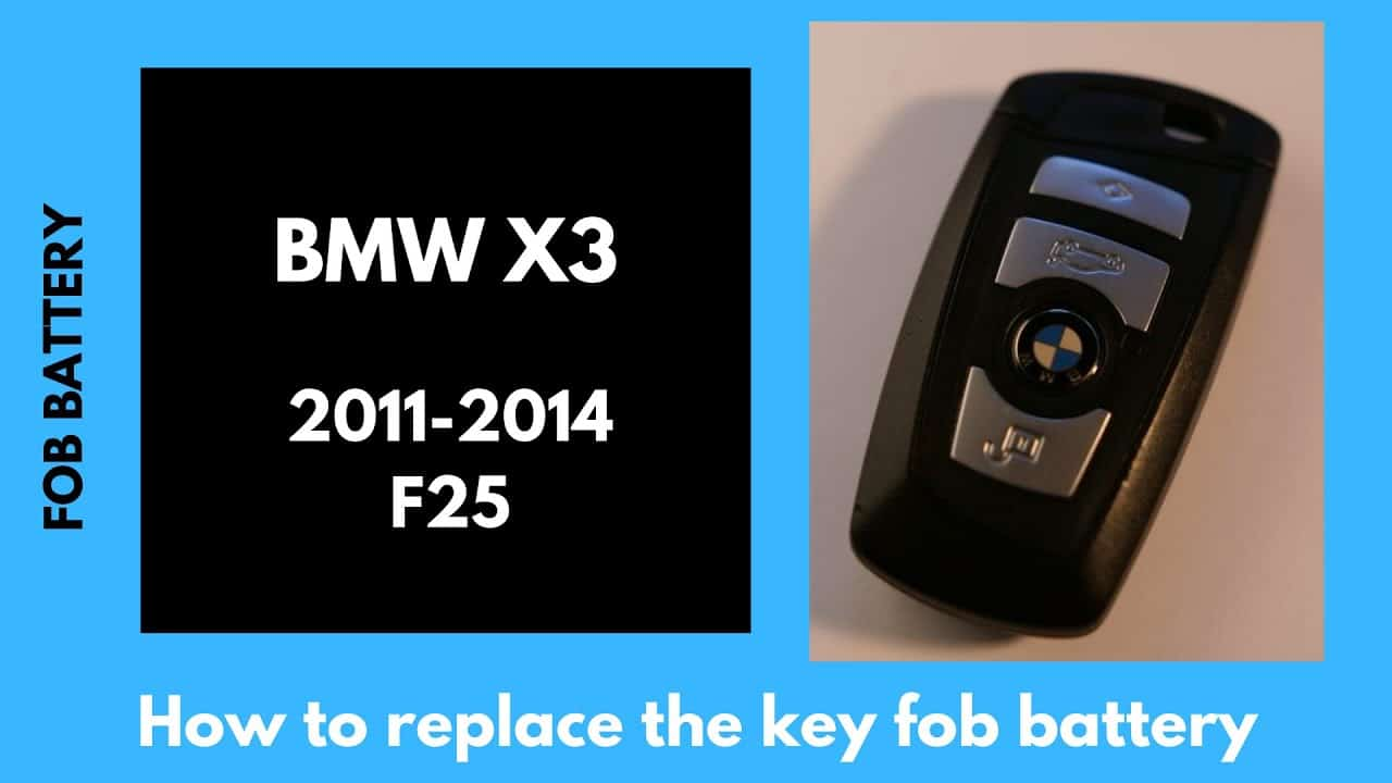 How to change BMW x3 2011-2014 smart key fob battery