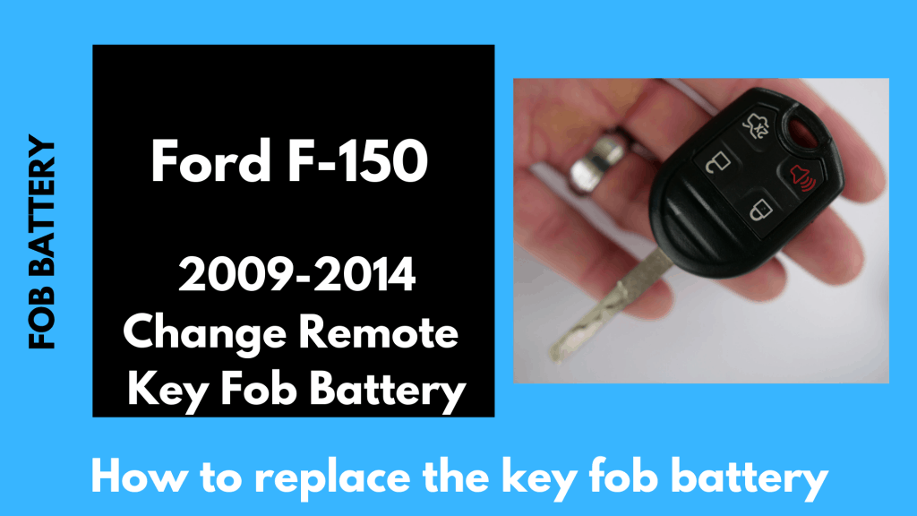 Change the key battery in this integrated rounded Ford F-150 fob/key