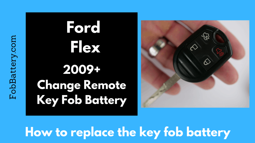 Change the remote / key combo battery in the Ford Flex