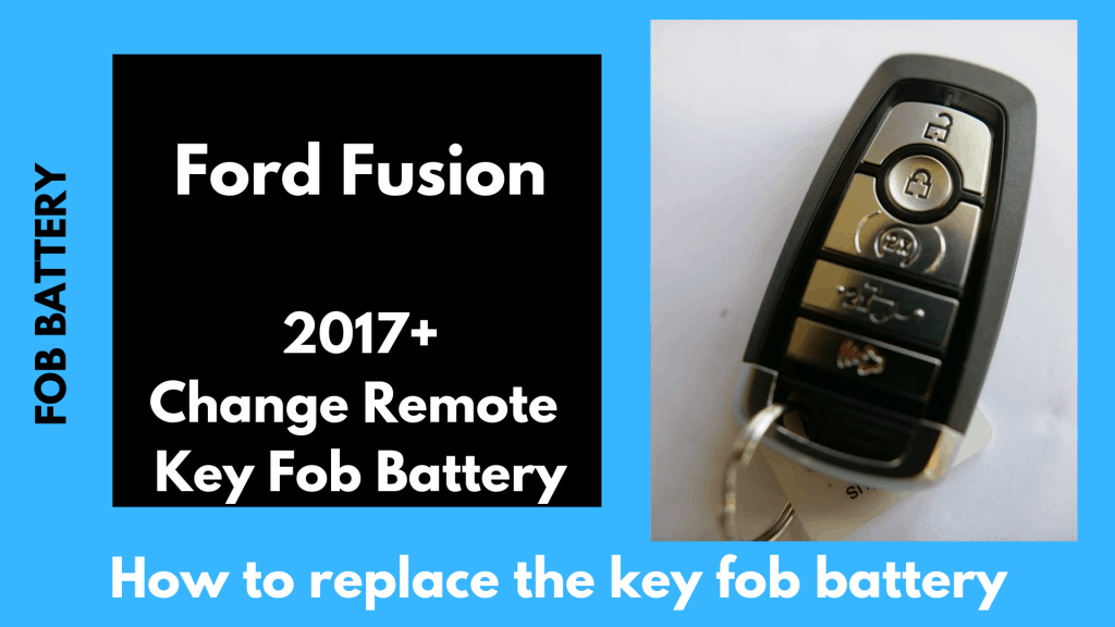How to change the 2017, 2018, 2019 Ford Fusion Smart Fob Key Battery