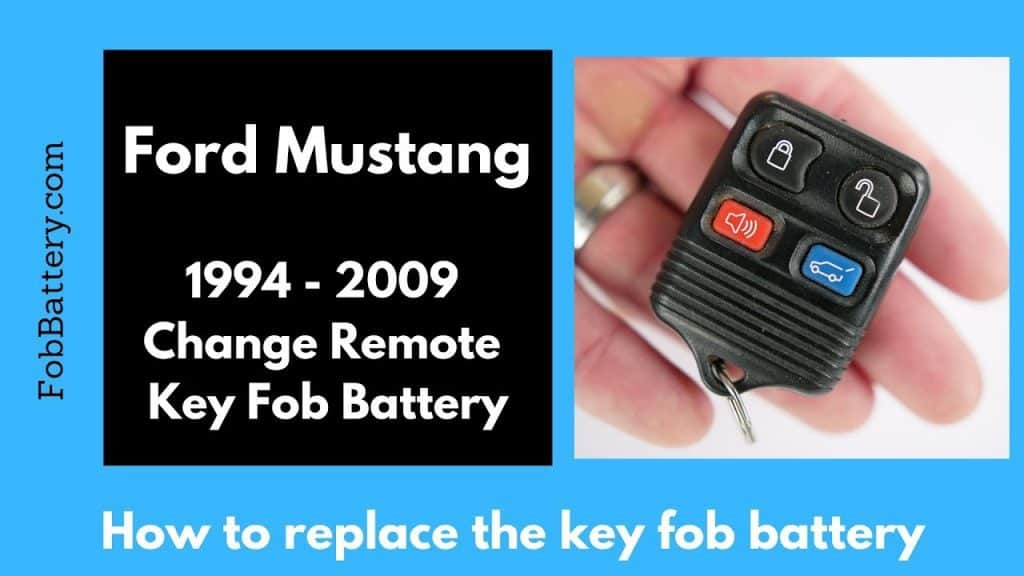 How to change older Ford Mustang remote key fob batteries