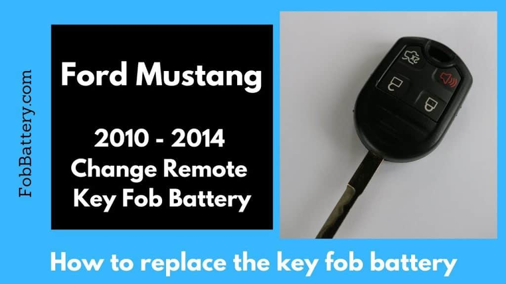 How to change Ford Mustang round key fob battery 2010 - 2014