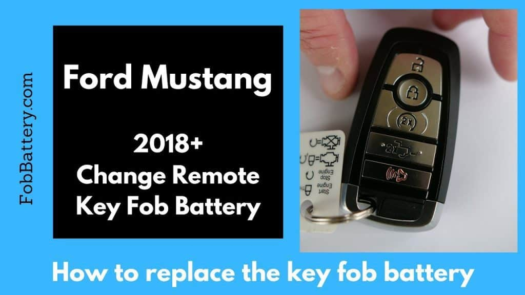 How To Change The 2018 2019 Ford Mustang Key Fob Battery