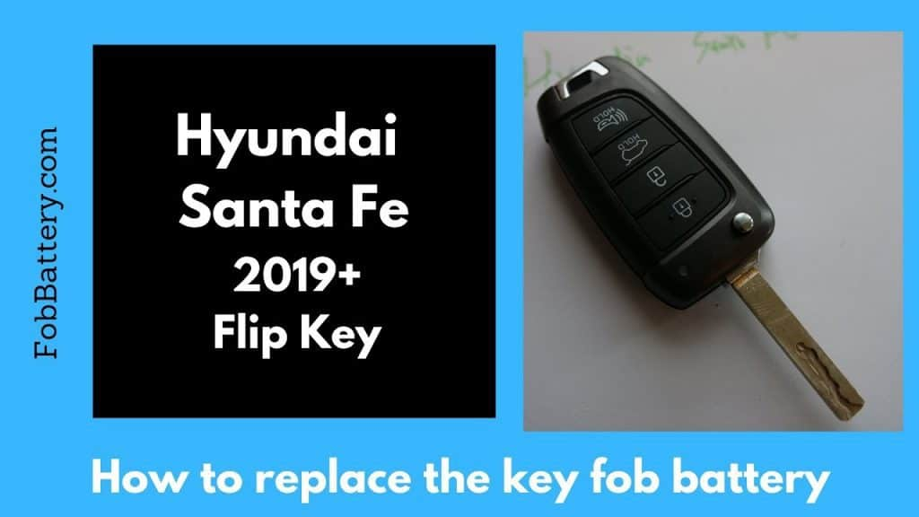 Change The 2019 And Newer Hyundai Santafe Flip Key Battery