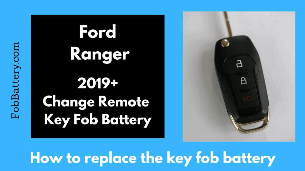 How to replace the battery in your Ford Ranger flip key fob