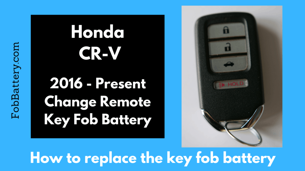 How to replace the CR-V smart key battery
